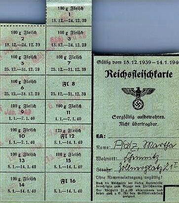 """""""Продуктовая карточка. Владелец Марта Пфальц. Срок действия с 18.12.39 по 14.01.40"""""""
