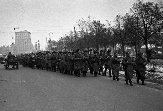 Московское ополчение. Октябрь 1941 г.