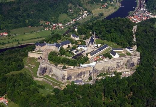 Крепость Кенигштайн. Современный вид.
