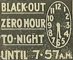 Типичное газетное объявление о светомаскировке