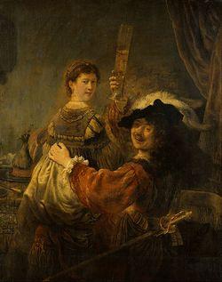 Рембрандт «Блудный сын в таверне» («Автопортрет с Саскией на коленях»)