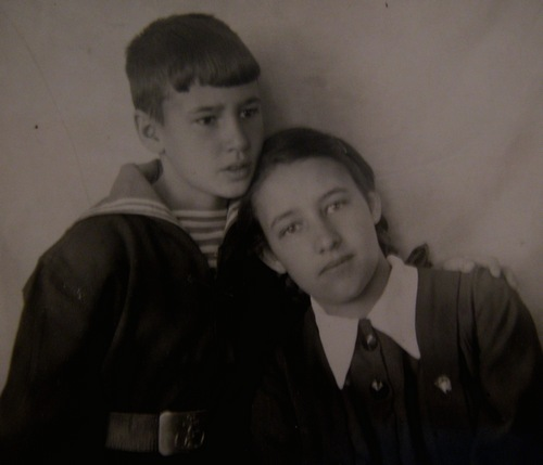 Инга с братом Игорем