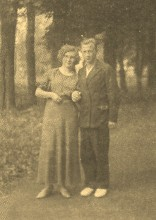 К.А. Трофимова с мужем Василием Ивановичем, 1936 г.