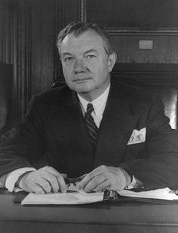 Роберт Хьюаут Джексон, главный обвинитель от США на Нюрнбергском процессе.