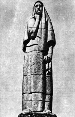 Г. Иокубонис. (Архитектор В. Габрюнас.) Памятник жертвам фашизма в Пирчюписе. 1960. Гранит.