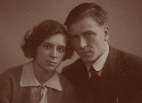 Молодая семья София Ивановна и Александр Иванович Груздевы