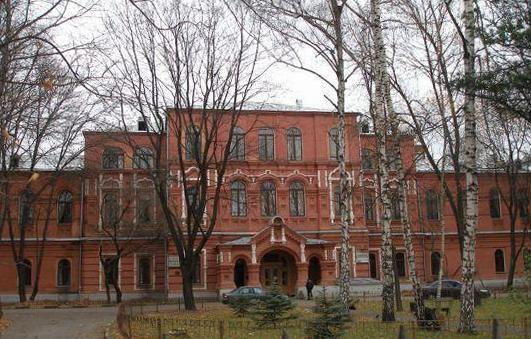 Здание бывшей Бахрушинской больницы в Сокольниках. Современный вид.