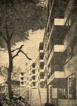 Один из наиболее известных «жилых блоков» в Кенсал Райз, в северо-западном районе столицы, выстроенный по плану архитектора Е. М. Фрай.