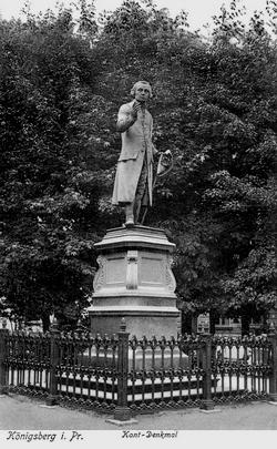 Памятник И. Канту, довоенное фото