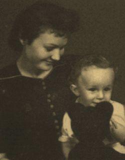 Жена Гердта Марина Новикова с сыном Всеволодом