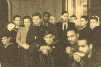 Персонал и гости Интерклуба, 1944 г.
