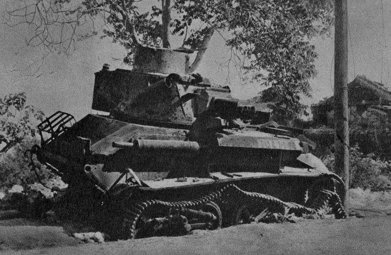 Подбитый британский танк