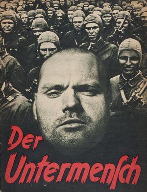 """Плакат с надписью """"Недочеловек"""""""