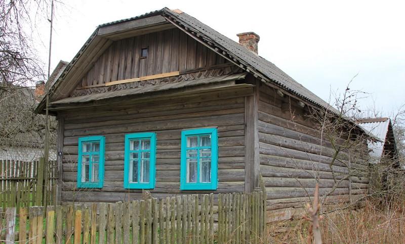 Дом брата дедушки - Павла, куда его семья приехала в начале войны и где они поначалу все жили. Фото 2016 г.