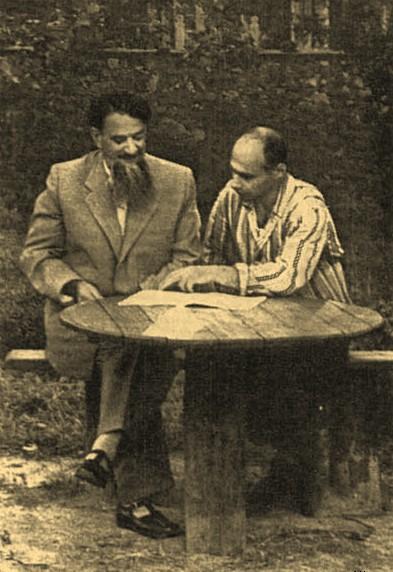 И. В. Курчатов и Г. Н. Флеров, 1953 год.
