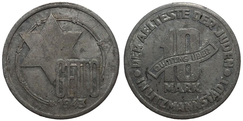 10 марок. Деньги Лодзинского гетто — в просторечии «хаимки»